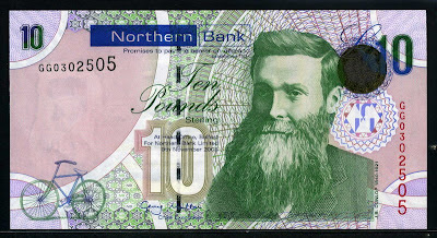 Northern Ireland Banknotes 10 Pounds Sterling Note