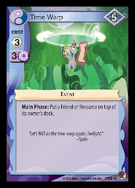 MLP Time Warp Marks in Time CCG Card