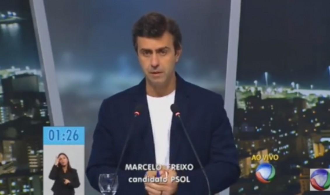 Freixo responde Crivella por comentário homofóbico em debate na TV Record