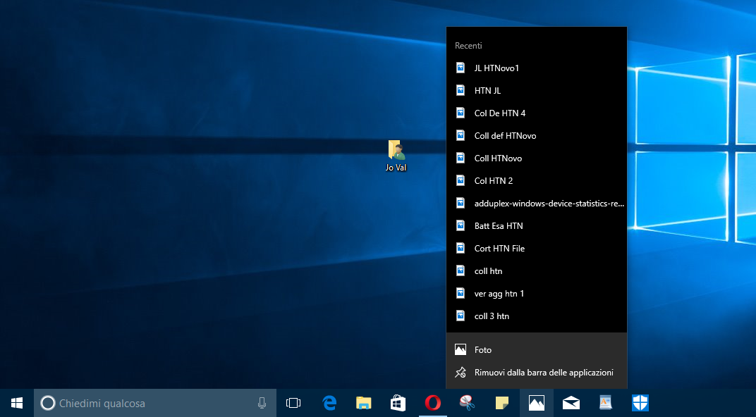 Come aggiungere voci alle Jump List in Windows 10 HTNovo