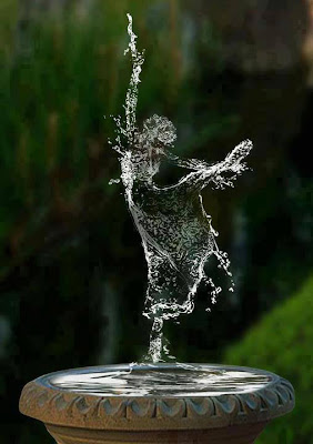 amazing image made from water
