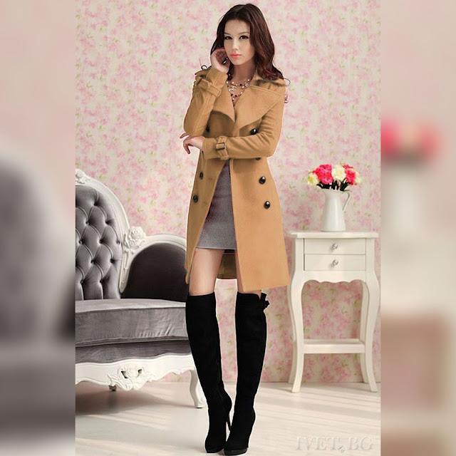 Γυναικείο καφέ παλτό SONINA BROWN