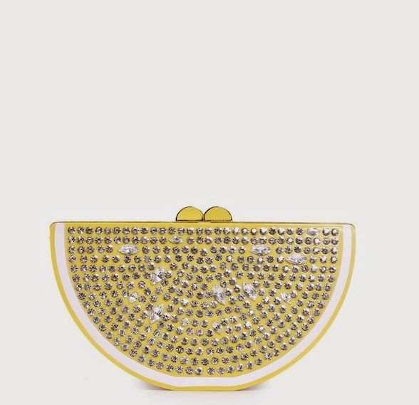 kate spade lemon clutch via limoni lina