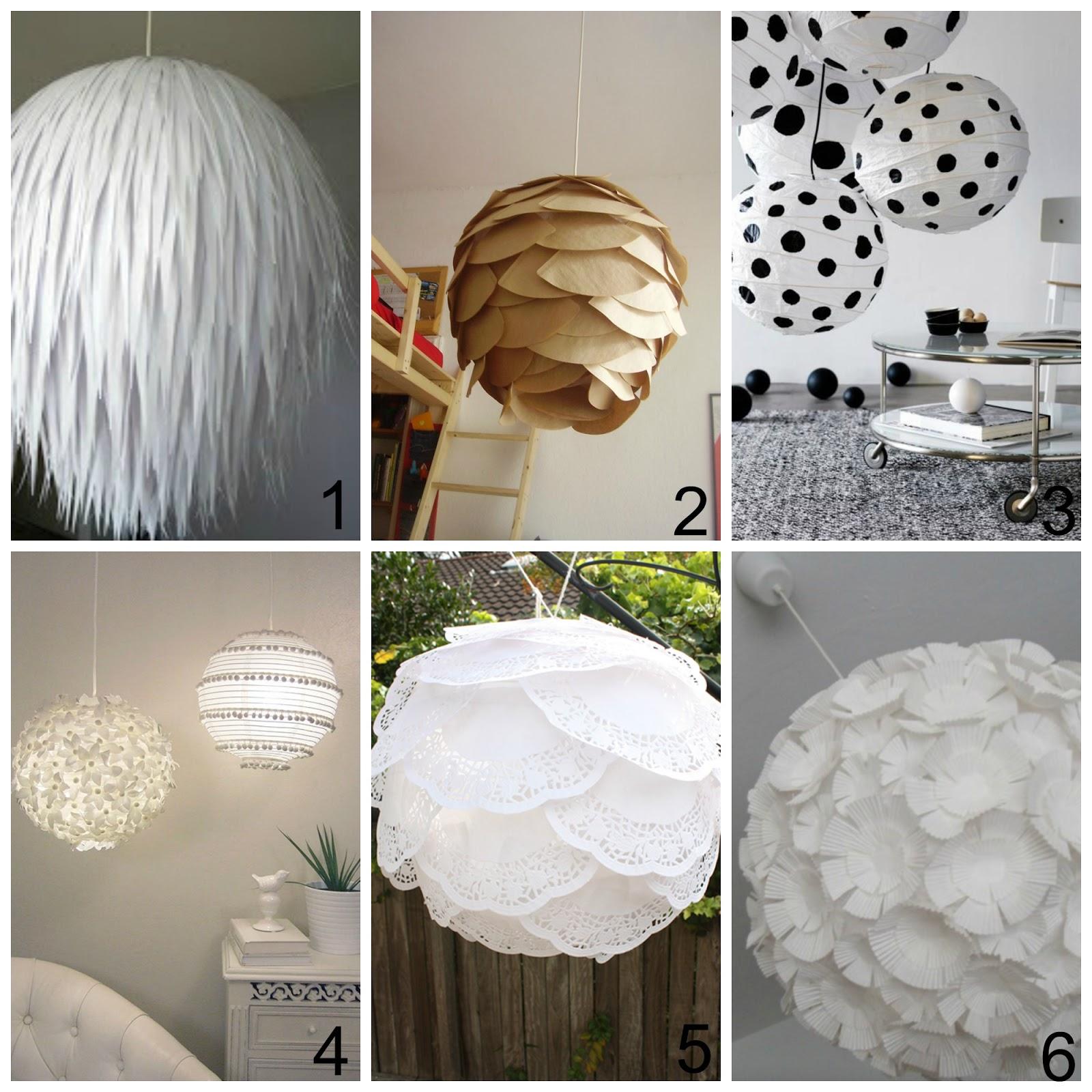 09cdd9a603 Come decorare i lampadari di carta dell'Ikea - 6 Idee e tutorial facili