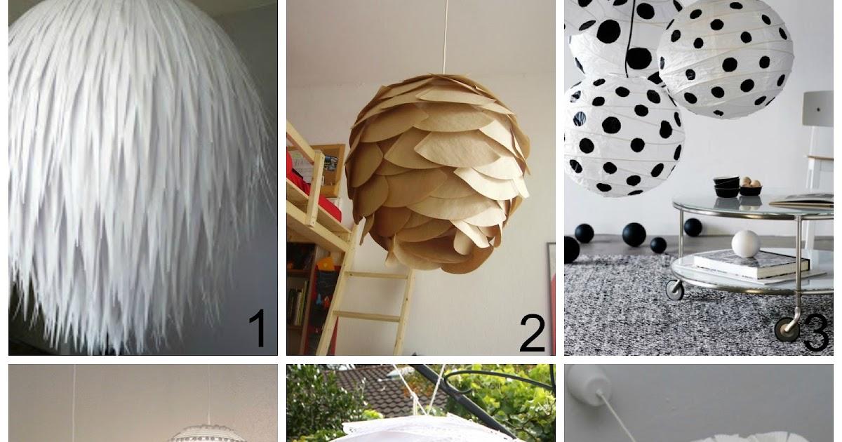 Lampadari Di Carta On Line : Come decorare i lampadari di carta dell ikea donneinpink magazine