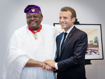 "Mike Adenuga Receives ""Commander of the Legion of Honour"" from Macron"