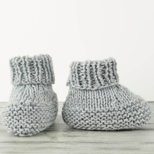 Flat Knit Baby Booties - Free Pattern