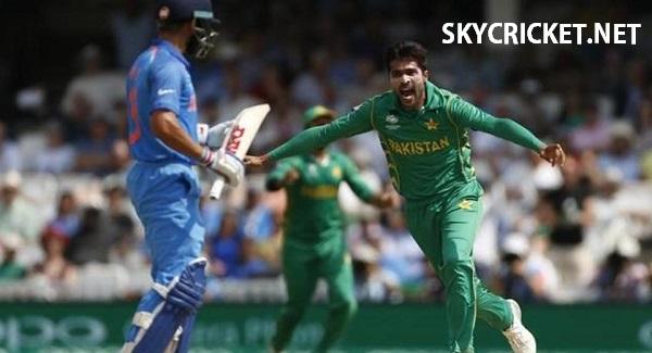 Amir reaction after dismissing Kohli