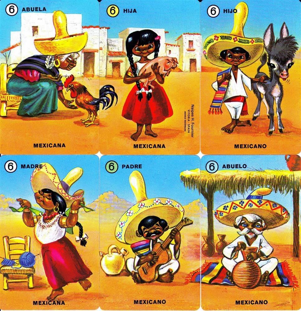 Barajas Y Naipes Familias De 7 Países