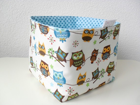 More owls. This fabric basket is from Blota . I think fabric baskets ...