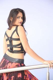 Shriya Vyas in a Tight Backless Sleeveless Crop top and Skirt 104.JPG