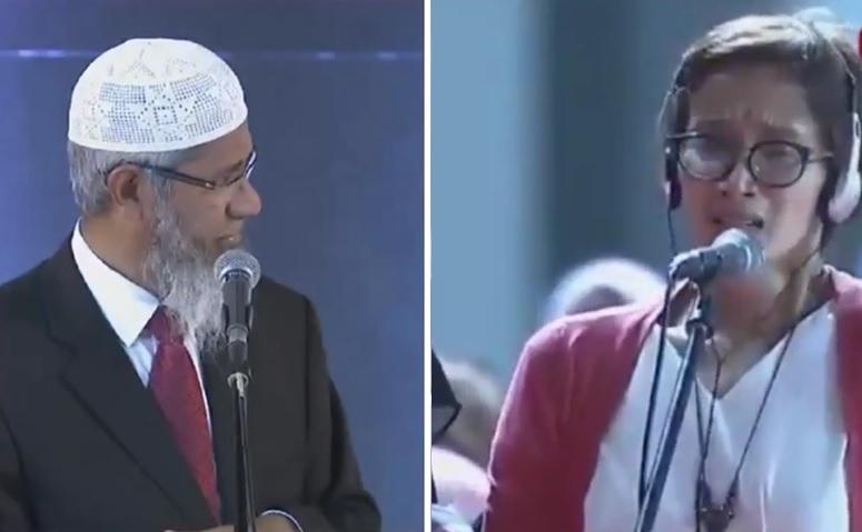 Imelda menangis di depan Dr Zakir Naik