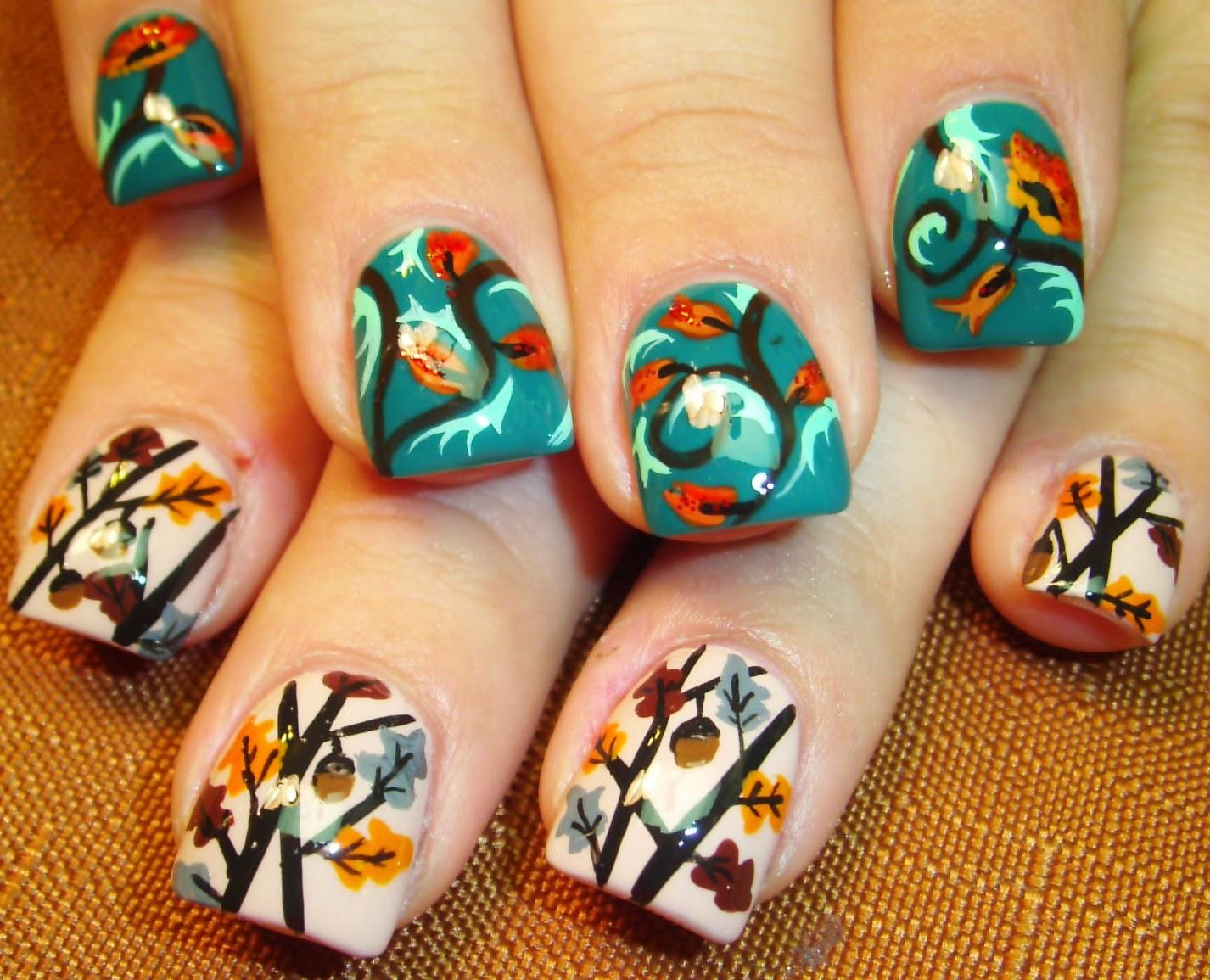Nail Art By Robin Moses Fall Leaves Fall Nails Fall Nail