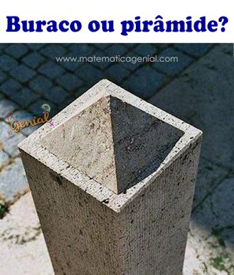O que você vê: Buraco ou pirâmide?
