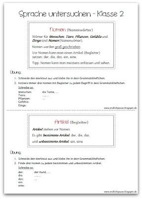 http://endlich2pause.blogspot.de/2013/07/sprache-untersuchen-in-klasse-2.html