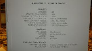 Affiche La maquette de la Ville de Genève
