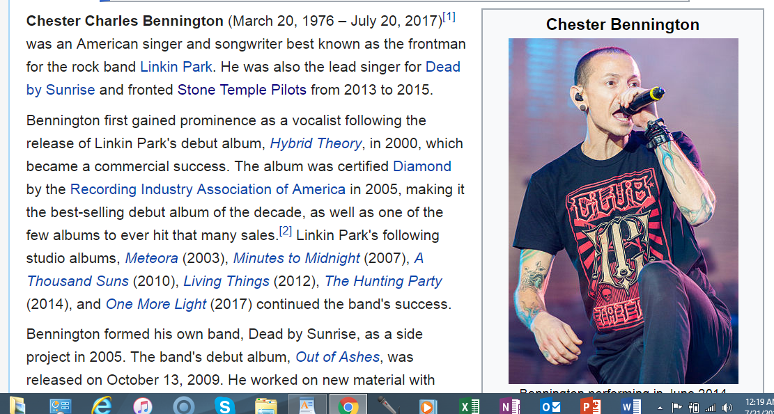 The Mindless Freaks: Death of Chester Bennington-Chris Cornell-Scott