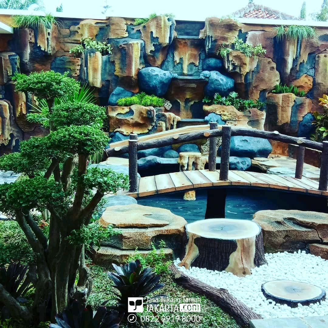 Jasa taman Dekorasi Air Terjun di tangerang
