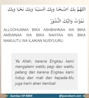berdoa waktu pagi