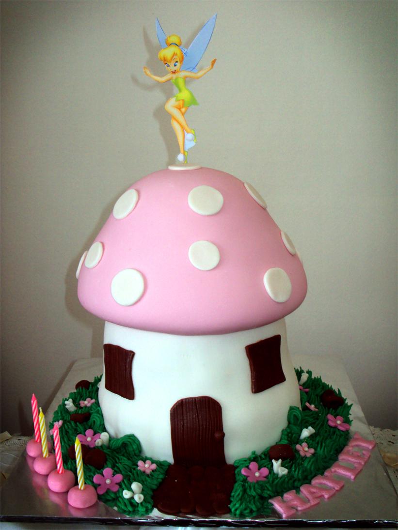 Delana S Cakes Tinkerbel Mushroom Cake
