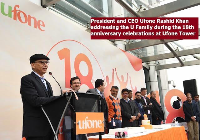 Ufone celebrates its 18th anniversary