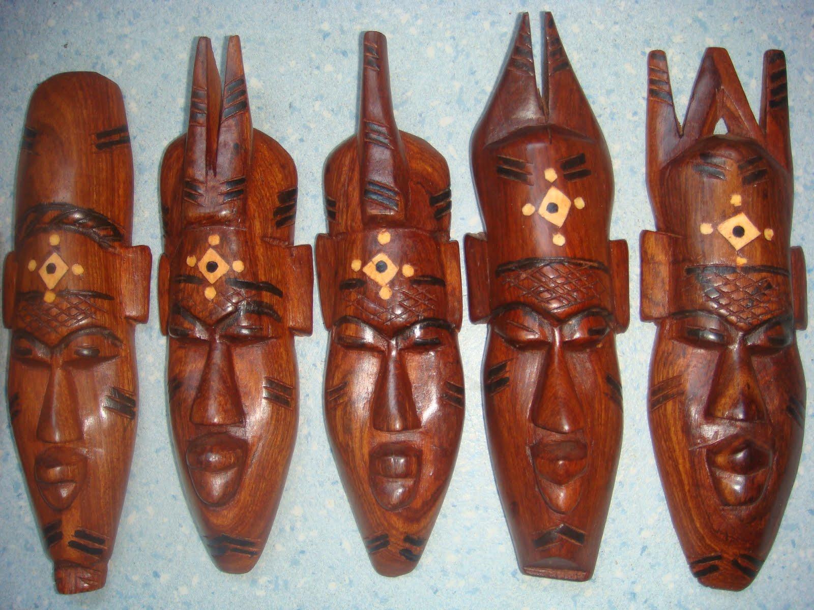masque africain en bois