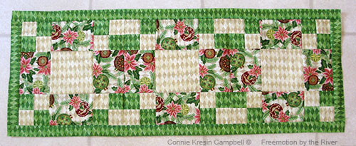 adding the first border for the table runner tutorial