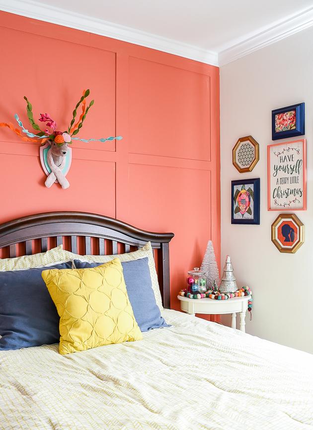 Christmas home tour, Christmas, Bright holiday decor, Kids bedroom, Gallery wall