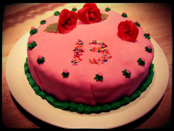 Super chocolotte: Verjaardagstaart 13 jaar &AR53