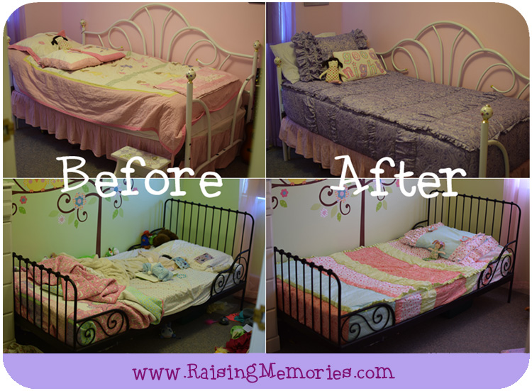 Before and After Beddy's Bedroom