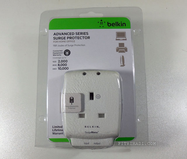 Ulasan Belkin Surge Protector Advanced Series
