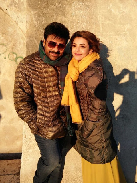 Chiranjeevi, Kajal pics in Khaidi No 150 Song Shoot Stills