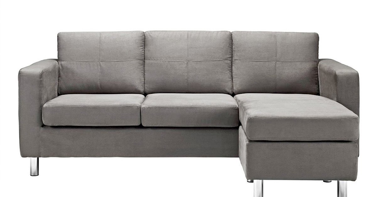 grey sectional couch: microfiber grey sectional sofa