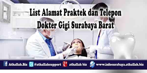 Alamat praktek dan nomer telepon yang bisa dihubungi para rekan dokter gigi yang ada di surabaya utara dan surabaya pusat
