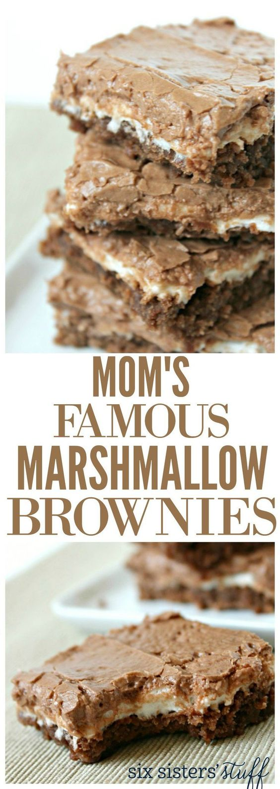 Moms Famous Chocolate Marshmallow Brownies