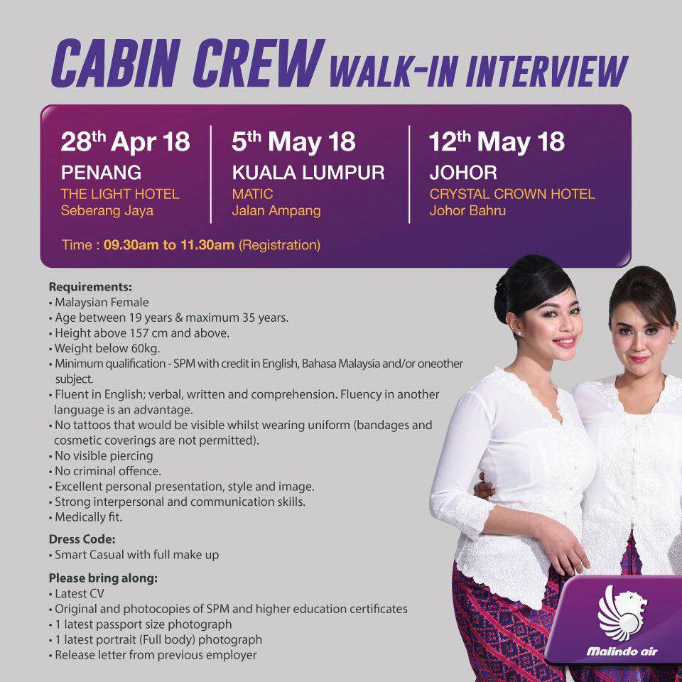 Fly gosh malindo cabin crew recruitment walk in interview for Cabin crew recruitment agency philippines