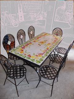 Tavoli Da Giardino Decorati.Vico Condotti Tavoli Da Interno E Da Giardino In Ceramica