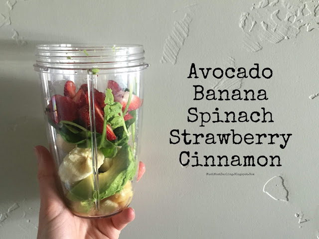 avocado banana spinach strawberry cinnamon