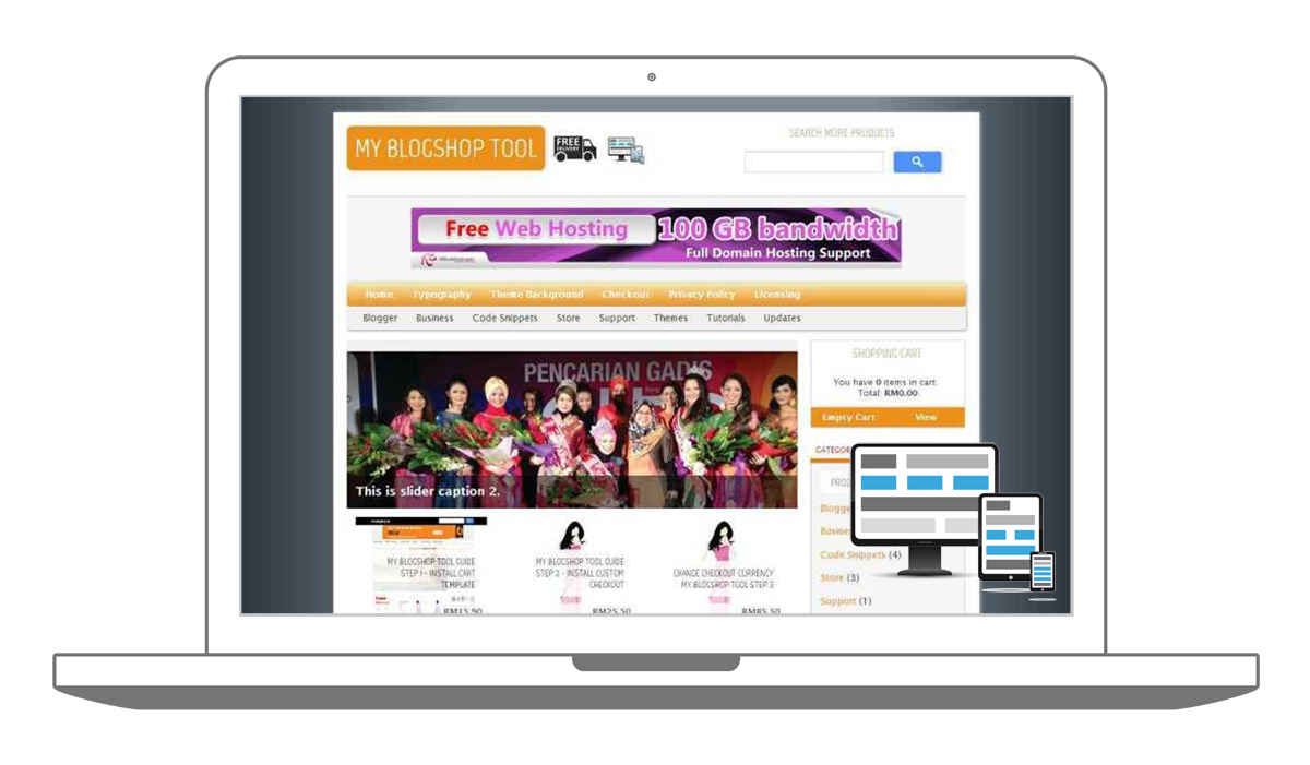 shopping cart template for blogger - download responsive blogger shoppinc cart theme