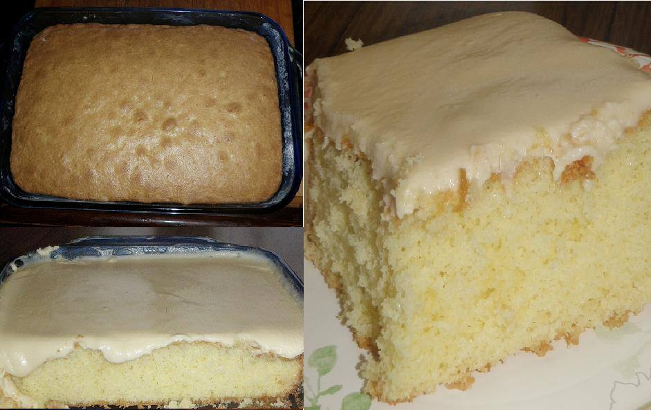 Granny S Old Fashioned Butter Cake With Butter Cream Frosting