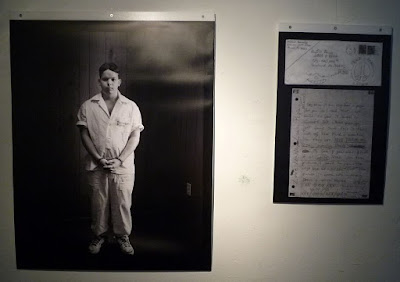 Photo of Michael Barnes and a letter he wrote to his grandparents.