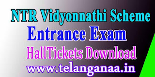 NTR Vidyonnathi 2016 Entrance Exam Hall tickets Download ntrvidyonnathi.org