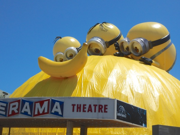 Cinerama Dome Minions movie installation