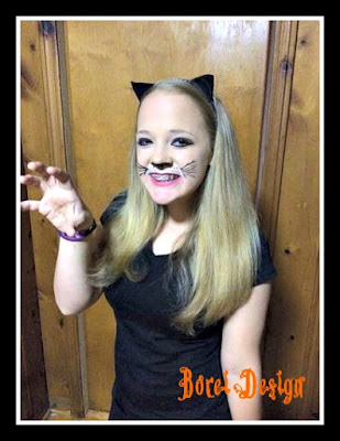 how to make cat costume tutorial makeup face paint easy