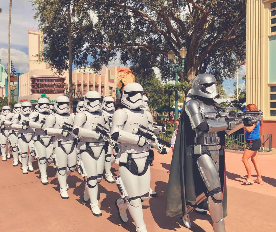 Things That Will Take Your Breath Away In Walt Disney World | Storm Troopers patrol the streets in Hollywood Studios!