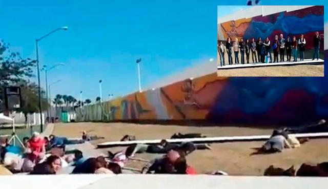 """video:""""Todos al suelo, al suelo, al suelo"""" balacera con amatrelladoras retumbaban durante evento de alcalde de Nuevo Laredo"""