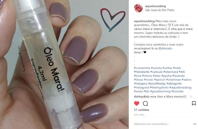 Óleo Mara Tratamento Cutículas KK Ferreira DRK Nails