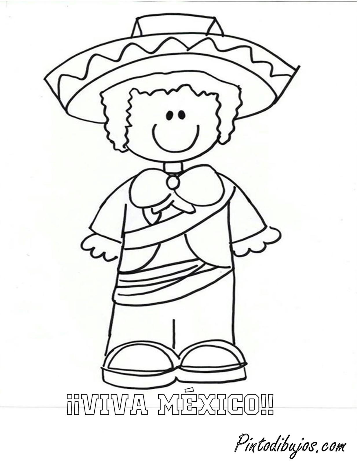 Mexico Dibujos Para Colorear Mexican Coloring Pages 1
