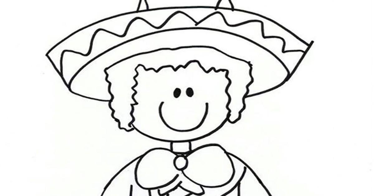 Mexico Dibujos Para Colorear Fiesta Mexican Coloring