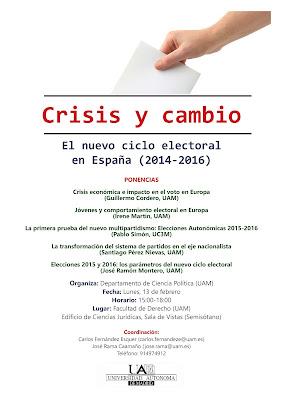 Crisis y cambio: el nuevo ciclo electoral en España (2014-2016)